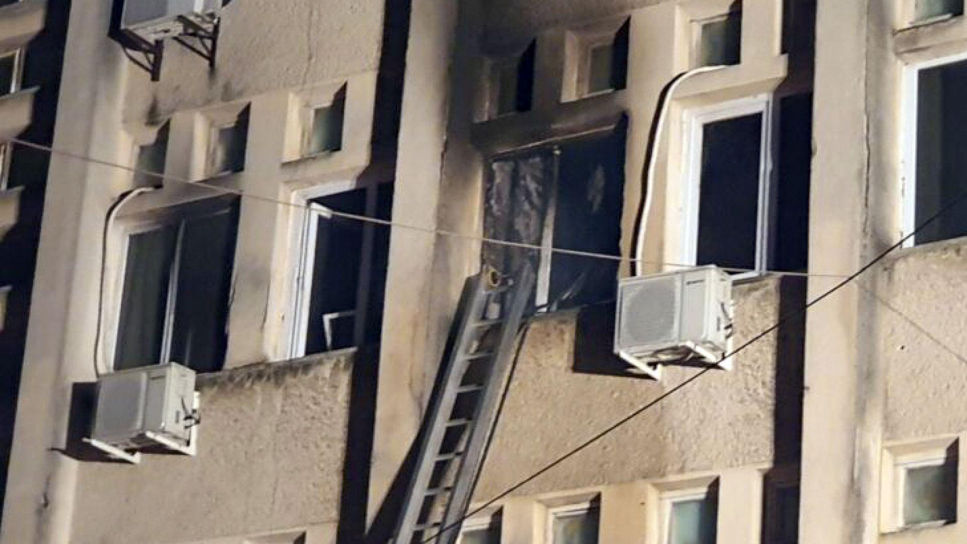 Десет жертви при пожар в интензивно отделение за Covid-19 в Румъния (снимки)