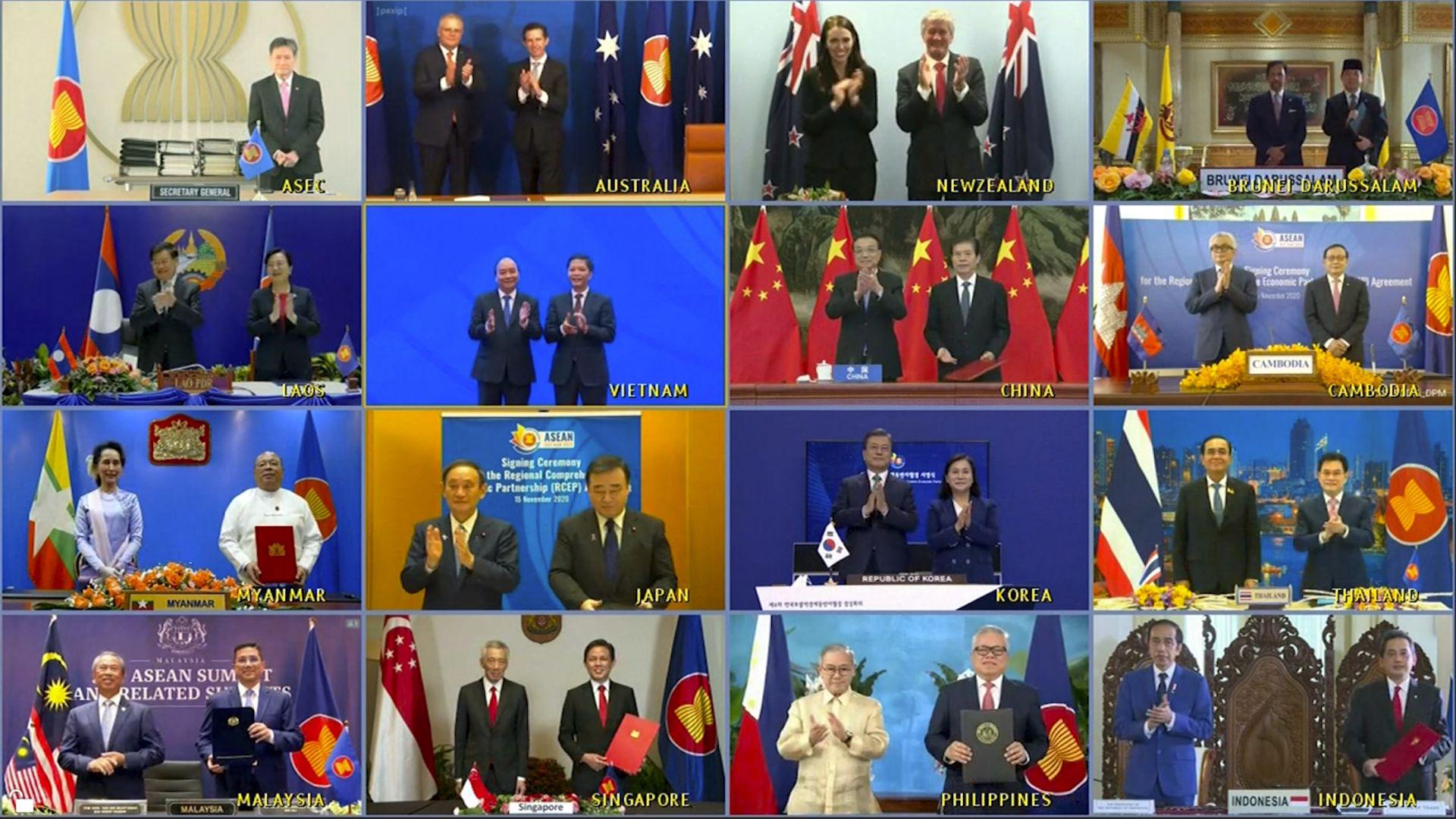 След 8 г. преговори 15 страни подписаха най-големия договор за свободна търговия в света