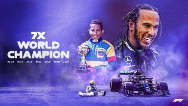 Впечатляващ Хамилтън изравни титлите на Шумахер със стил