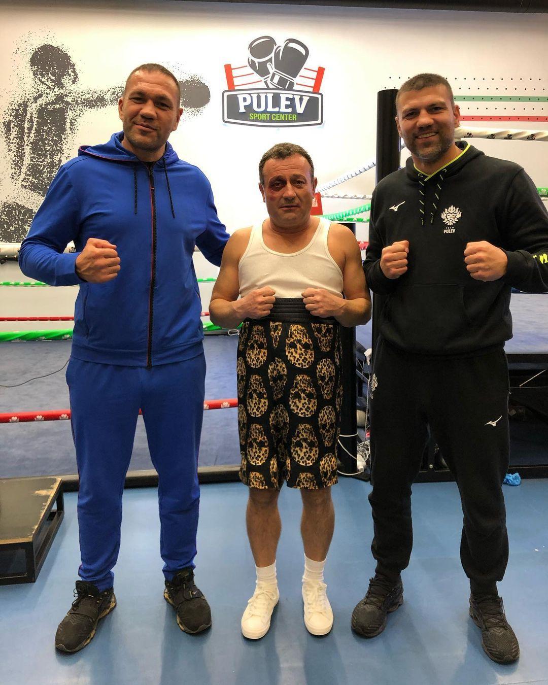Димитър Рачков с Кубрат и Тервел Пулеви