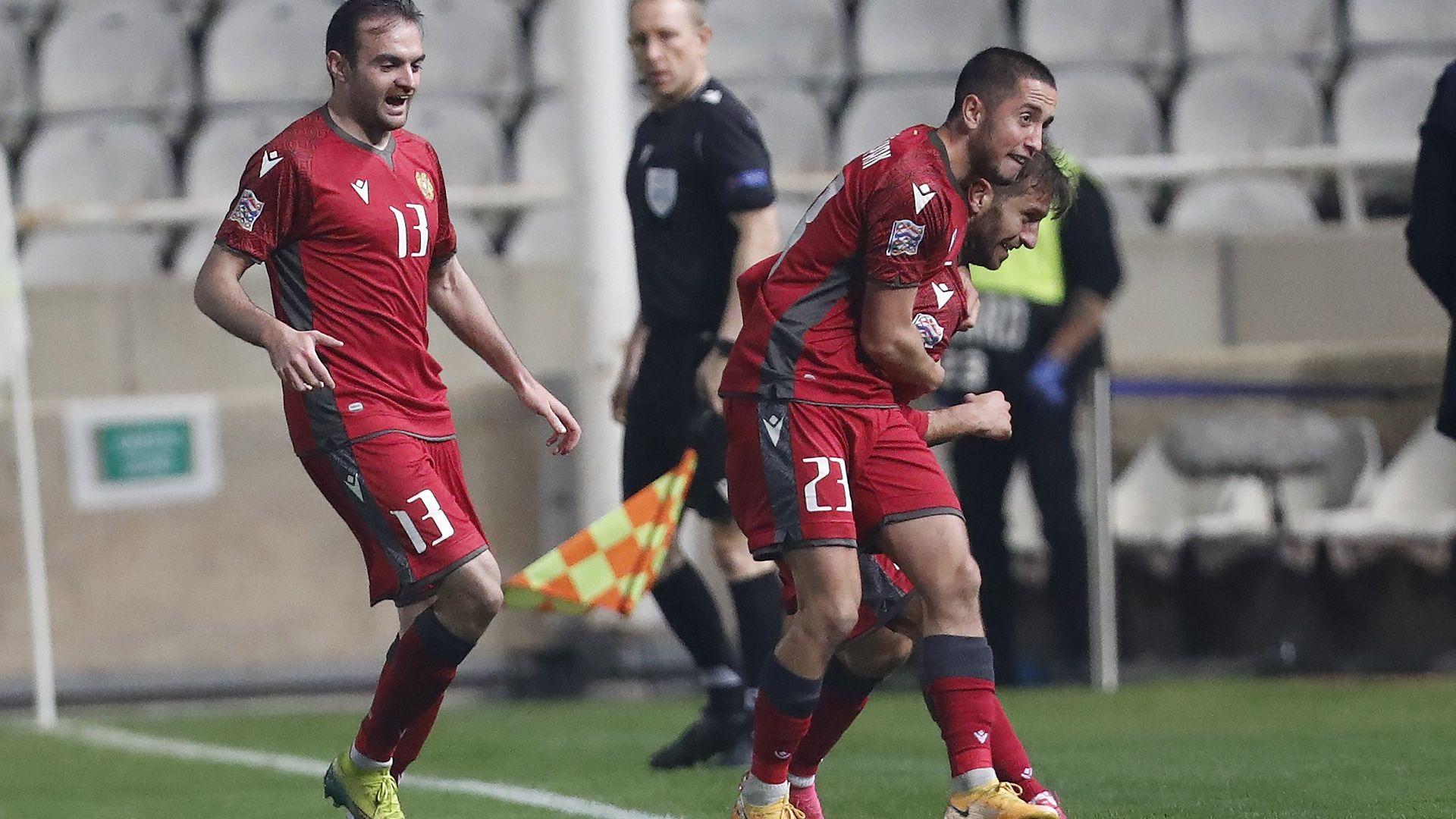 """На фона на войната и проблемите, футболна Армения извоюва промоция за Лига """"В"""" на Европа"""