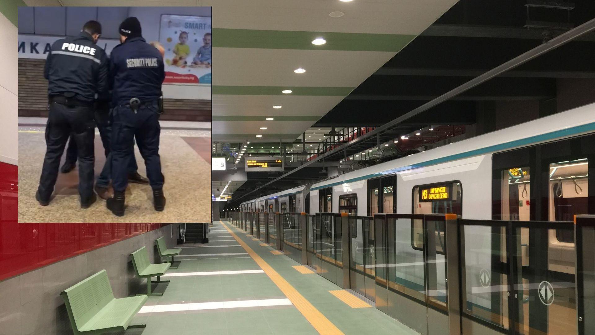 Двама задържани в метрото заради неспазване на мерките (видео)