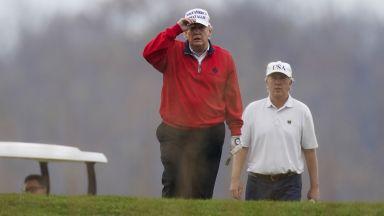 Доналд Тръмп се включи за кратко в срещата на върха на Г-20 и... отиде да играе голф
