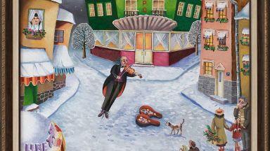 """Галерия """"Париж"""" показва Димитър Вецин и неговата носталгия по зимата"""