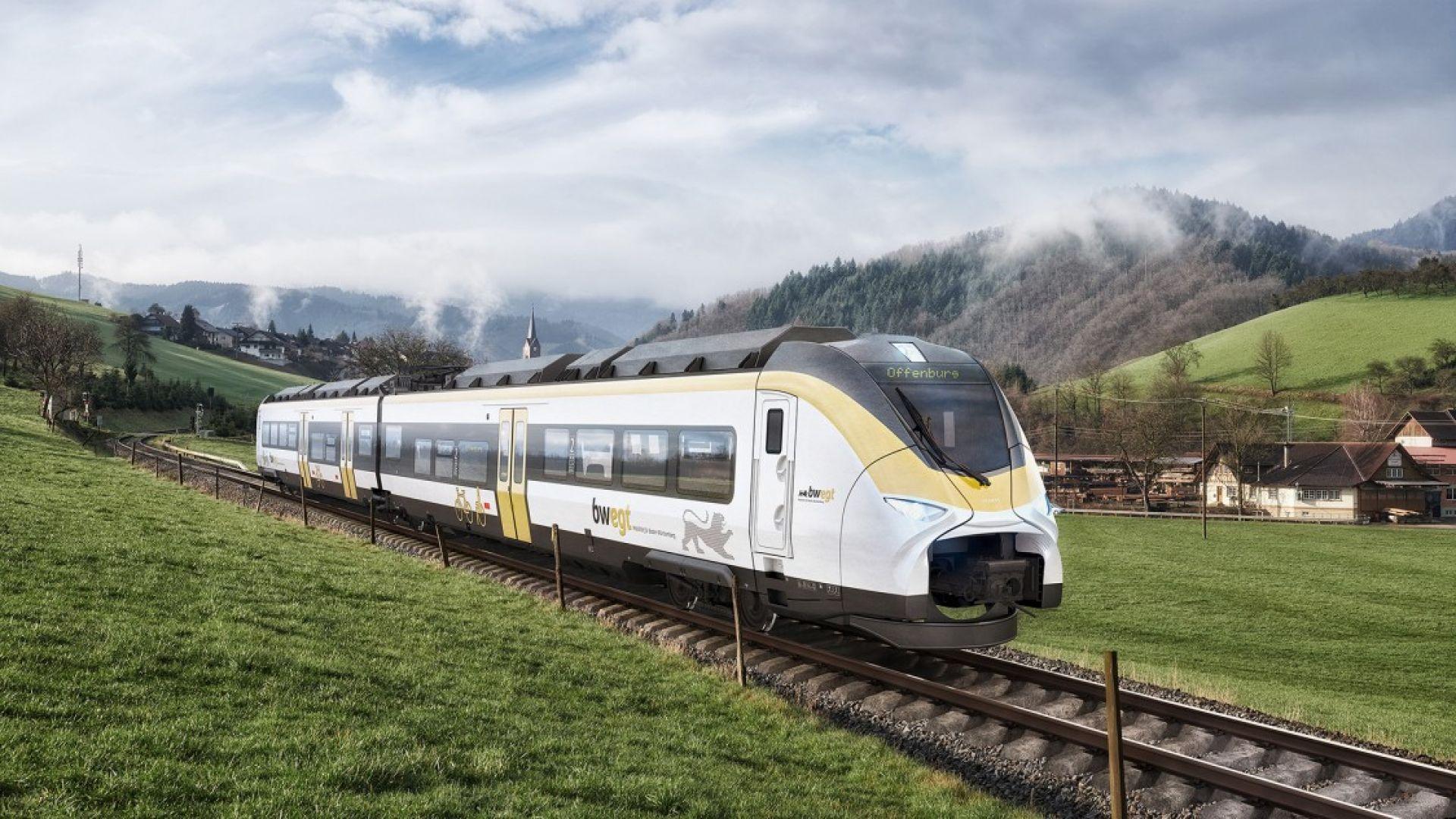 Siemens разработва водородни влакове за Deutsche Bahn