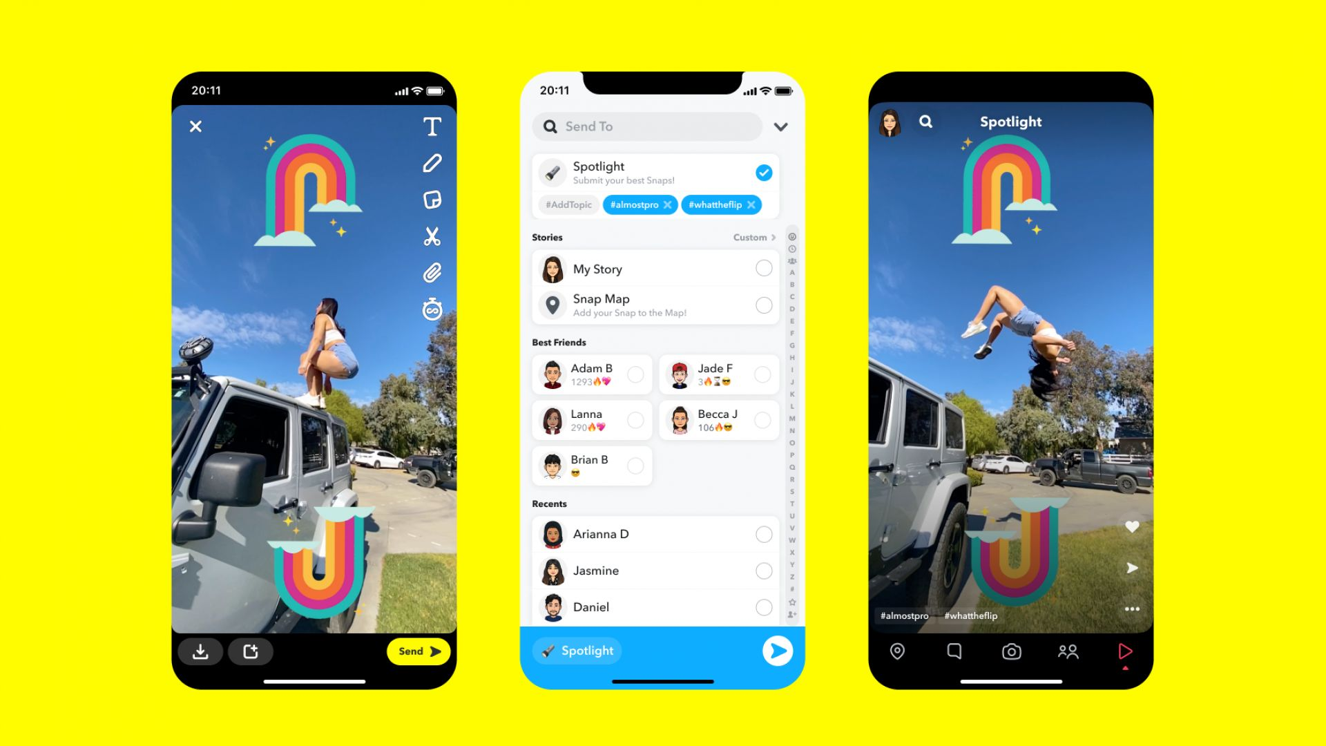 Snapchat стартира видео споделяне Spotlight