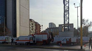 Строително скеле рухна и уби работник в центъра София