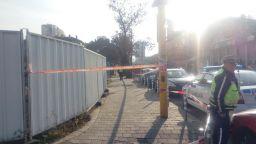 Строително скеле уби работник и рани четирима в центъра София
