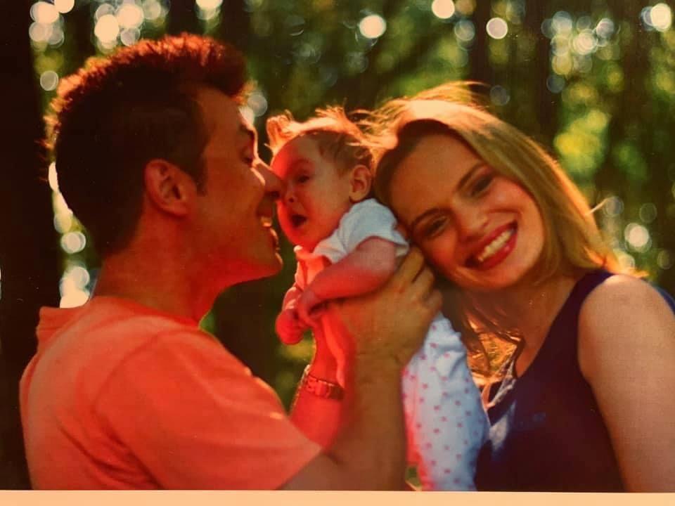 Ива с Дими и дъщеря им Дара