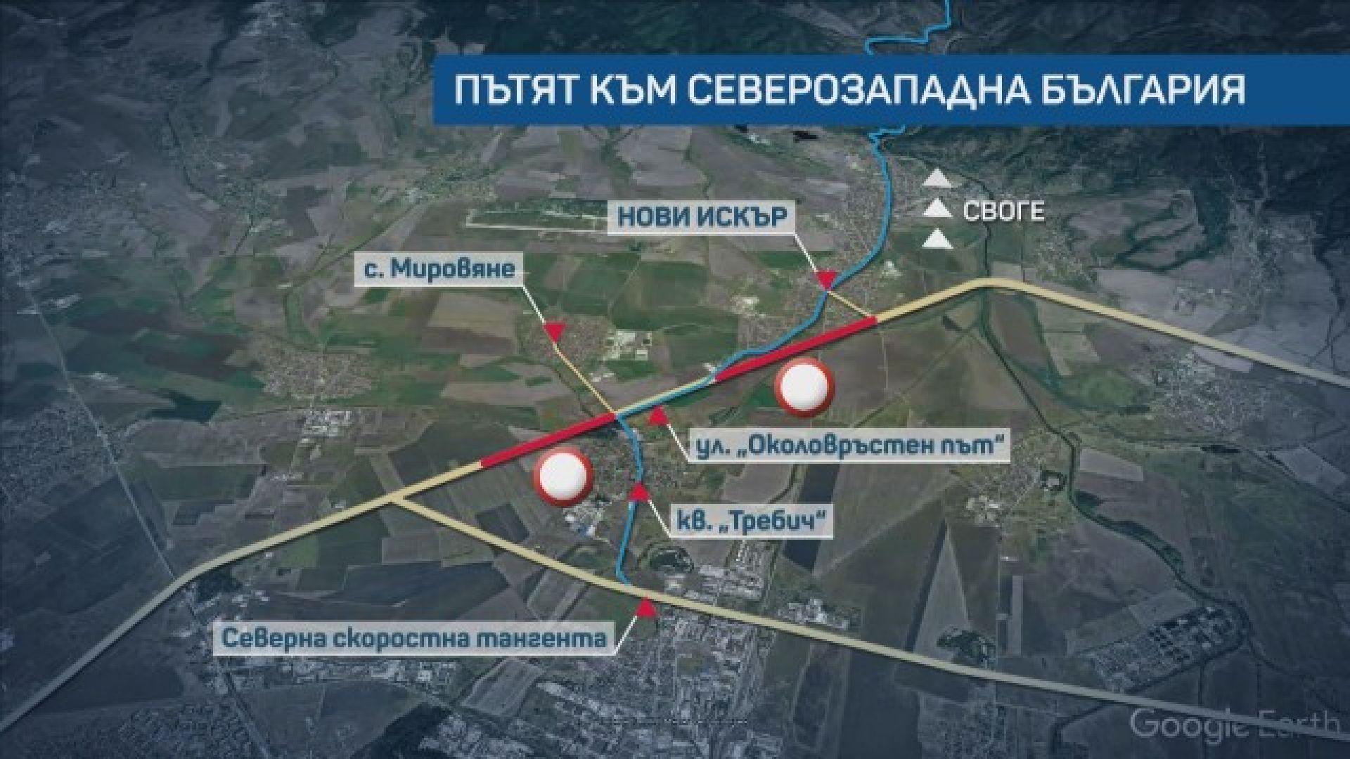Ремонтът и задръстванията на Северната дъга на София продължават