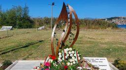 """Оскверниха паметника на жертвите от кораба """"Илиден"""" в Охрид"""