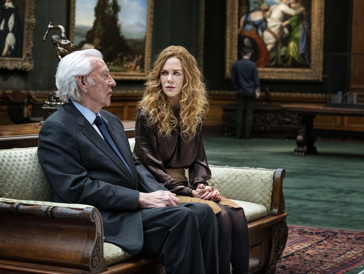 Франклин (Доналд Съдърланд) и дъщеря му Грейс (Никол Кидман) (Снимка: HBO)
