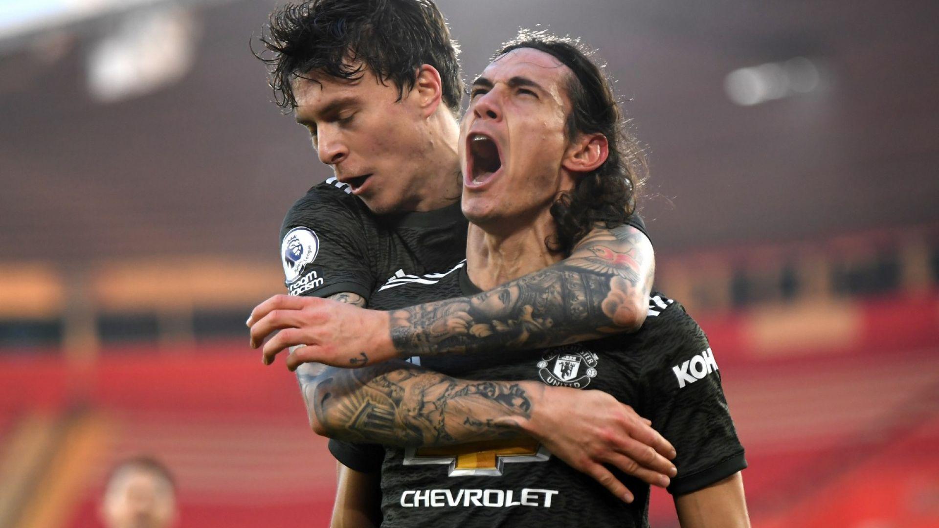Ел Матадор Кавани спаси кожата на Юнайтед в голяма драма