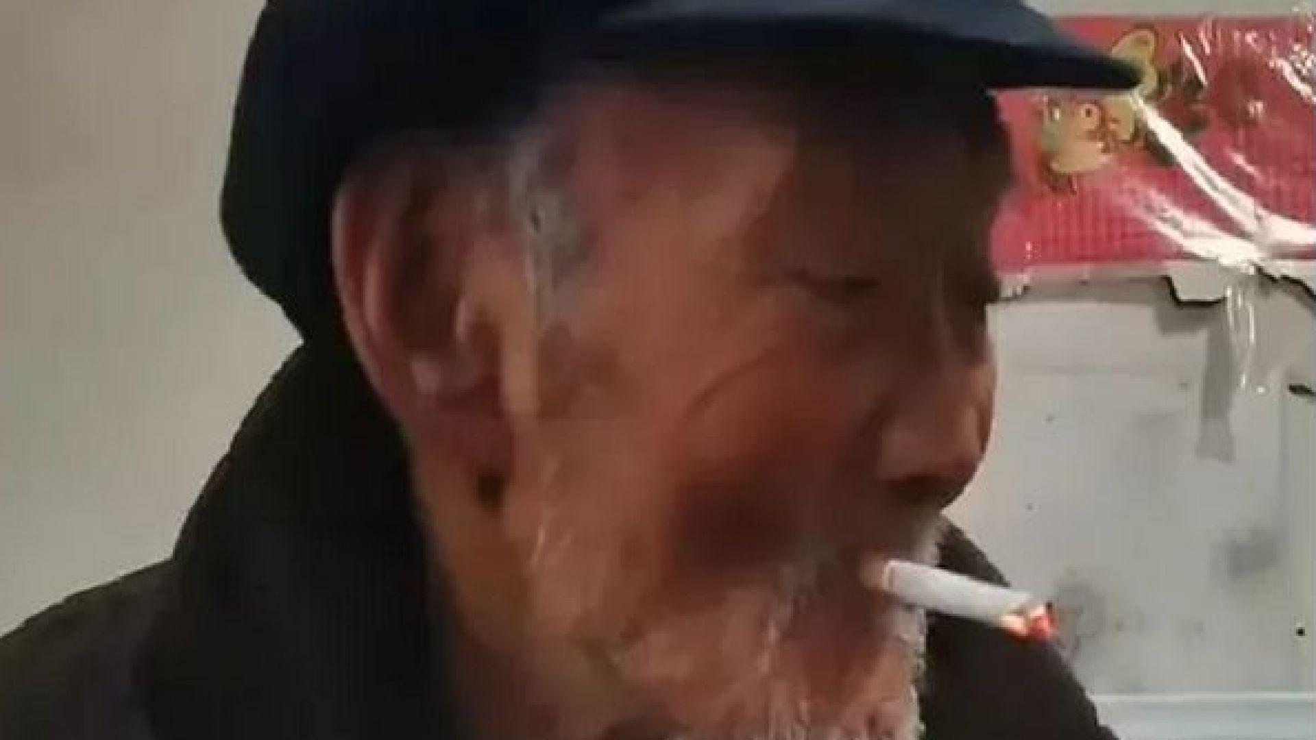 Китайски столетник дължал дълголетието си на алкохола и цигарите