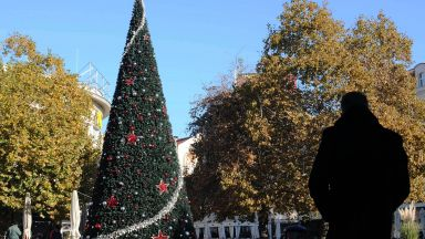 Палят светлините на коледната елха в Пловдив, отварят и ледена пързалка