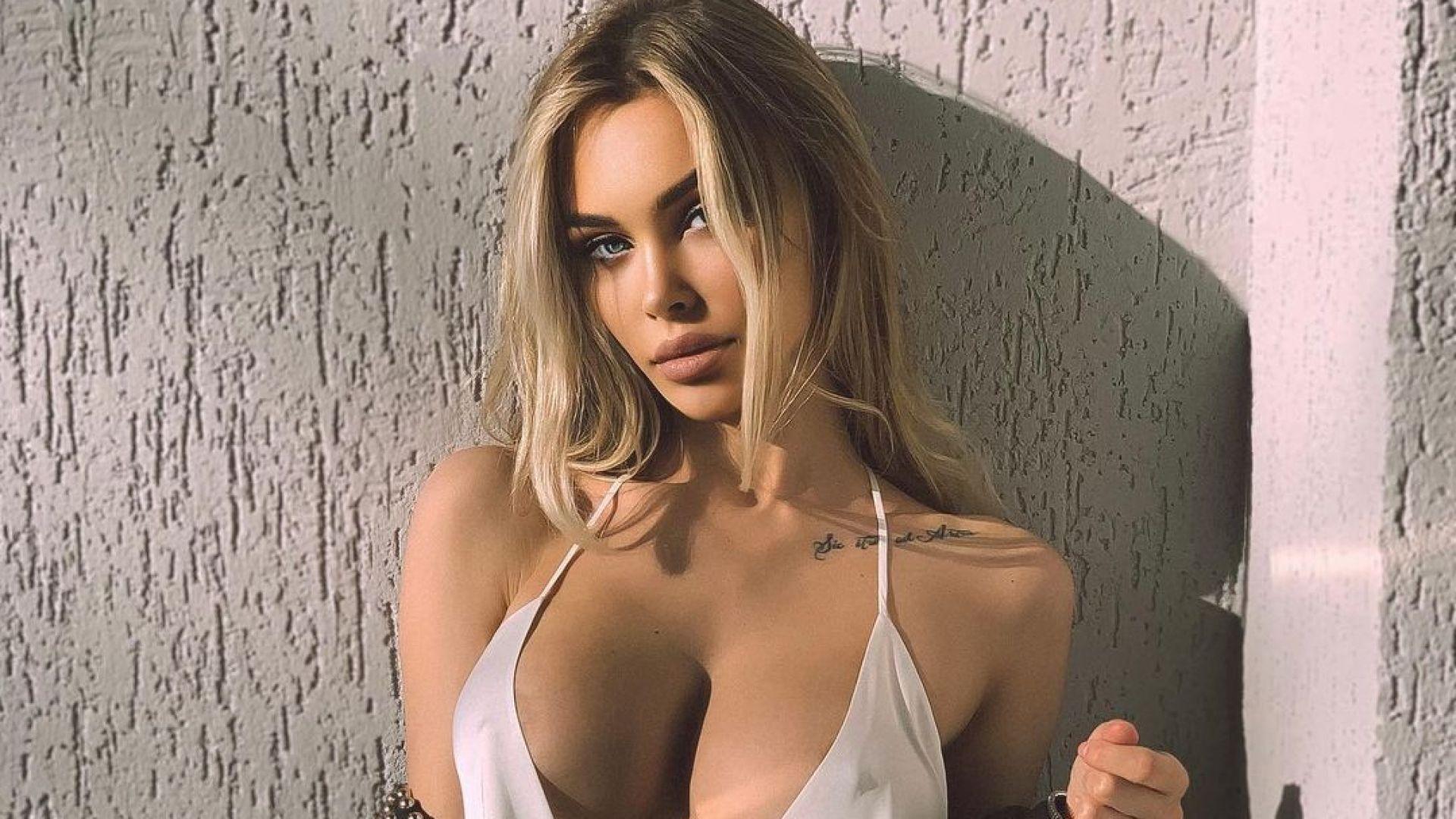 Само по шоколад: Рускинята, отказала на Роналдо, отбеляза рождения си ден с голи снимки