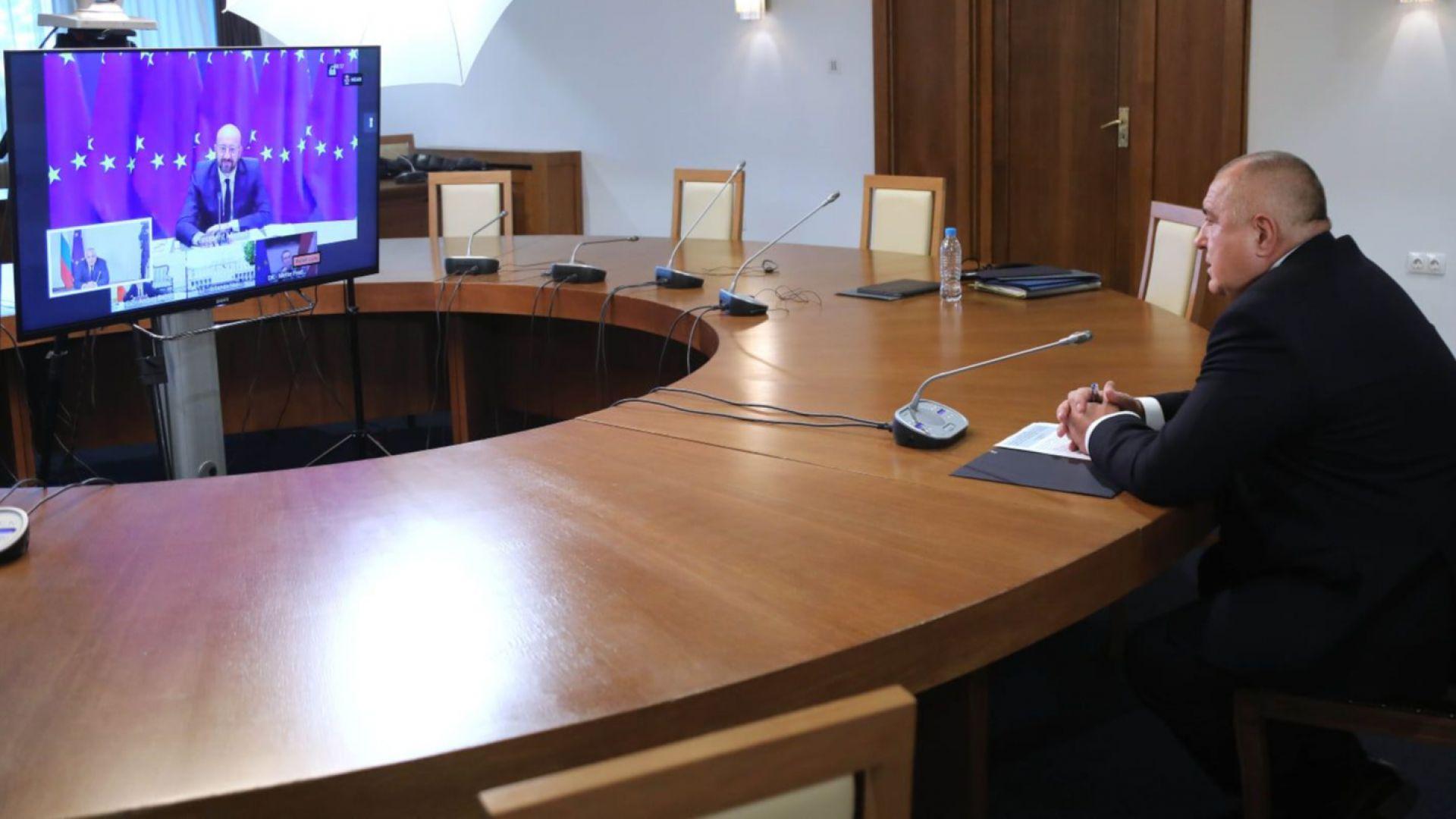 Борисов към Шарл Мишел: Трябва специално внимание за бъдещи заплахи за здравето