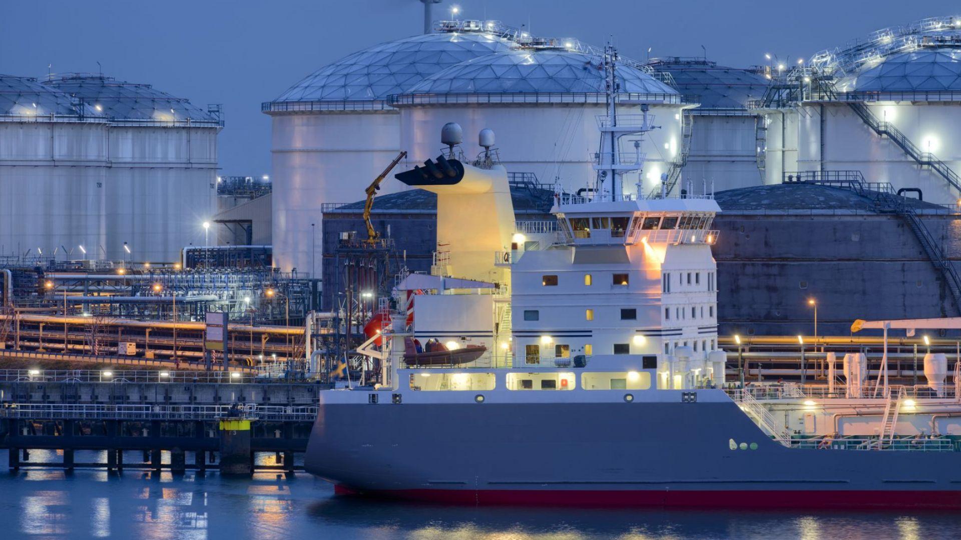 Европа е намалила вноса на втечнен газ през ноември с 39%