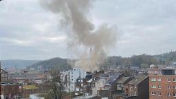 Експлозия в сграда в белгийския град Лиеж, има ранени (видео)