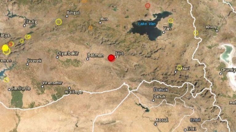Земетресение с магнитуд от 5 по Рихтер разтърси Турция в