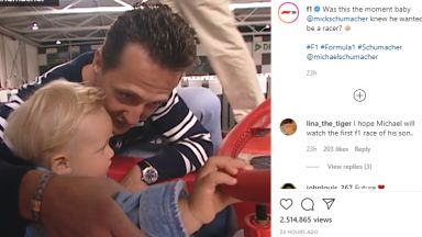 Формула 1 пусна трогателно видео с Михаел и Мик Шумахер