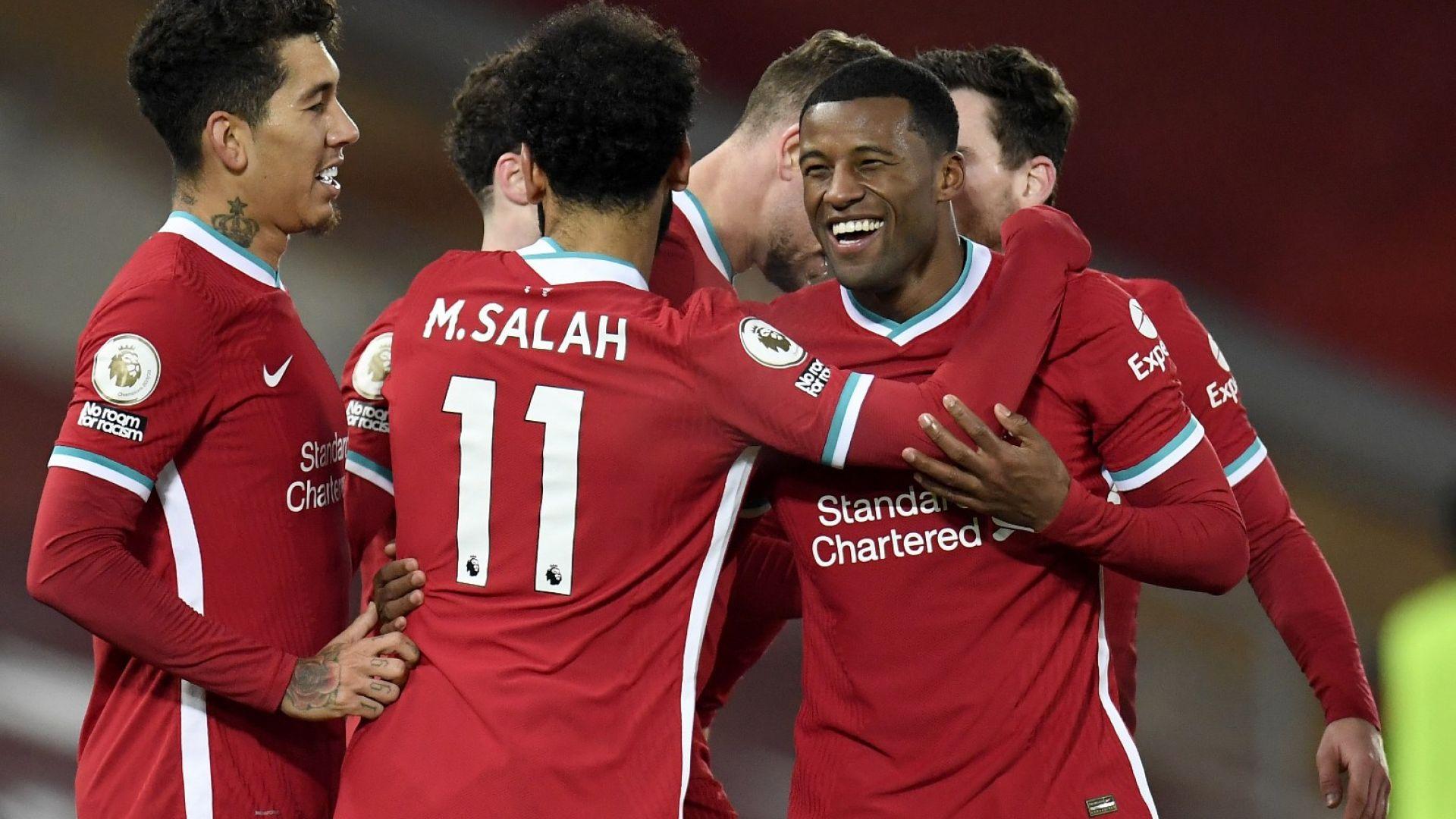 """Ливърпул се забавлява - отнесе """"вълците"""" с 4:0"""