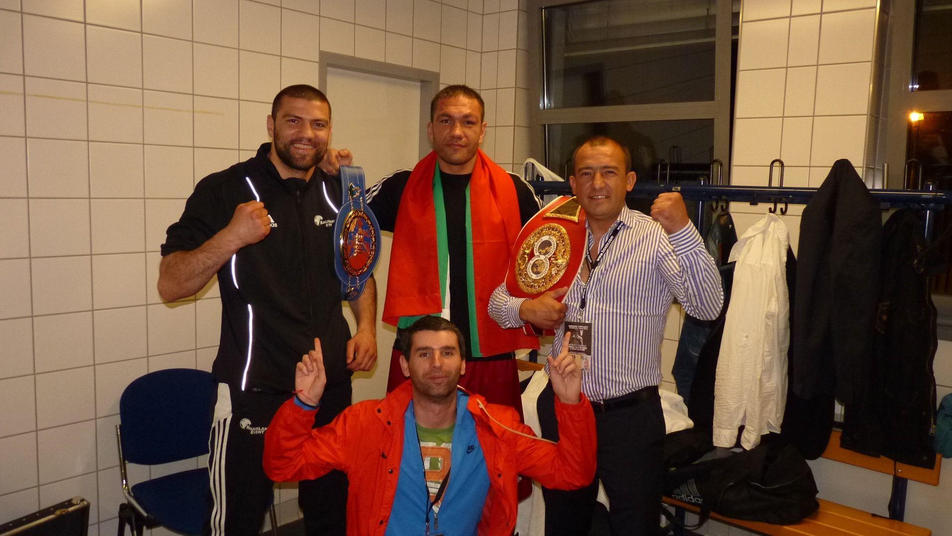 Оги Георгиев с шампионите Тервел и Кубрат Пулеви