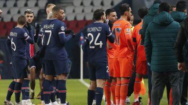 Прекратиха мач от Шампионската лига заради расистки скандал, предизвикан от съдия