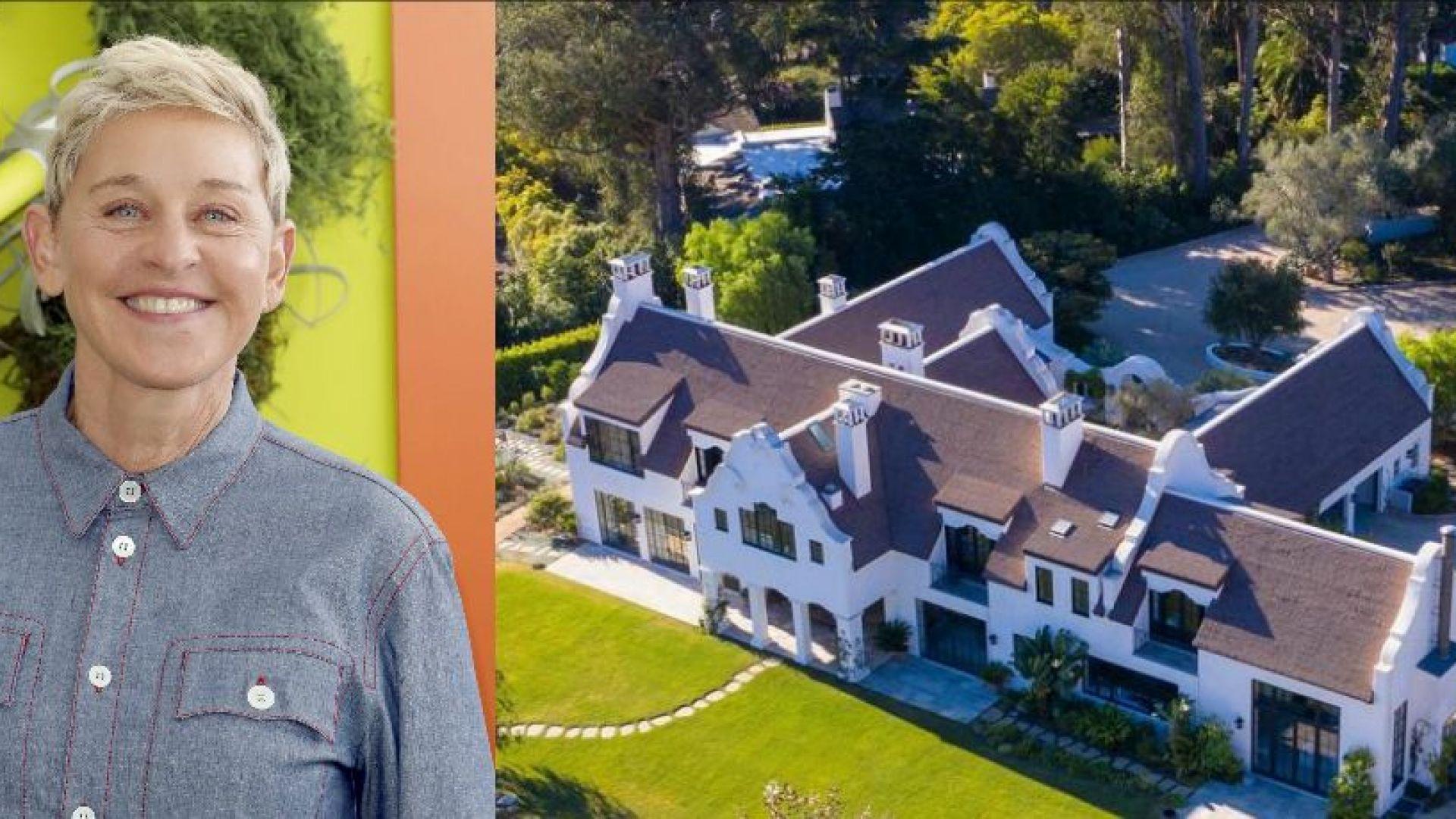 Вижте красивата къща на Елън Дедженерис, намираща се до тази на Хари и Меган