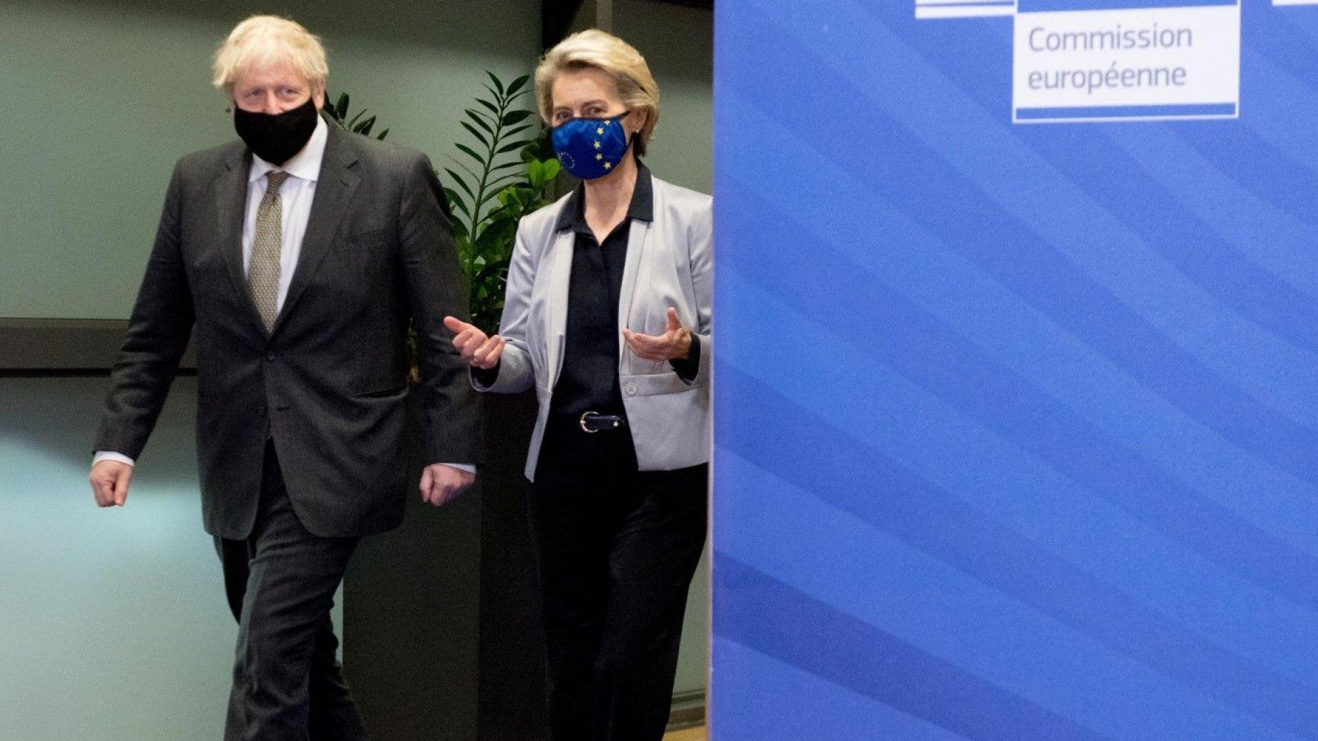 Борис Джонсън и Фон дер Лайен поставиха краен срок за сделка - до края на уикенда
