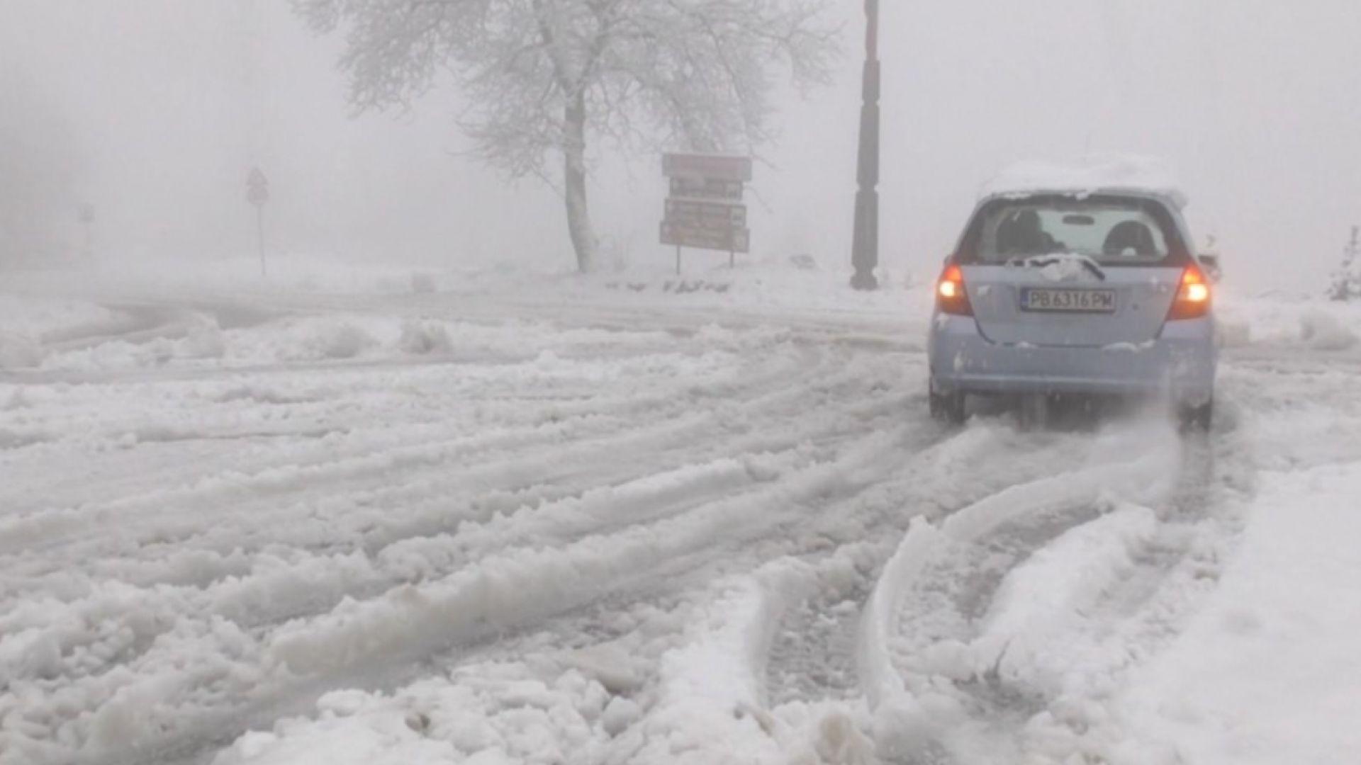 Сняг затрупа Родопите, десетки машини чистят пътищата (снимки)