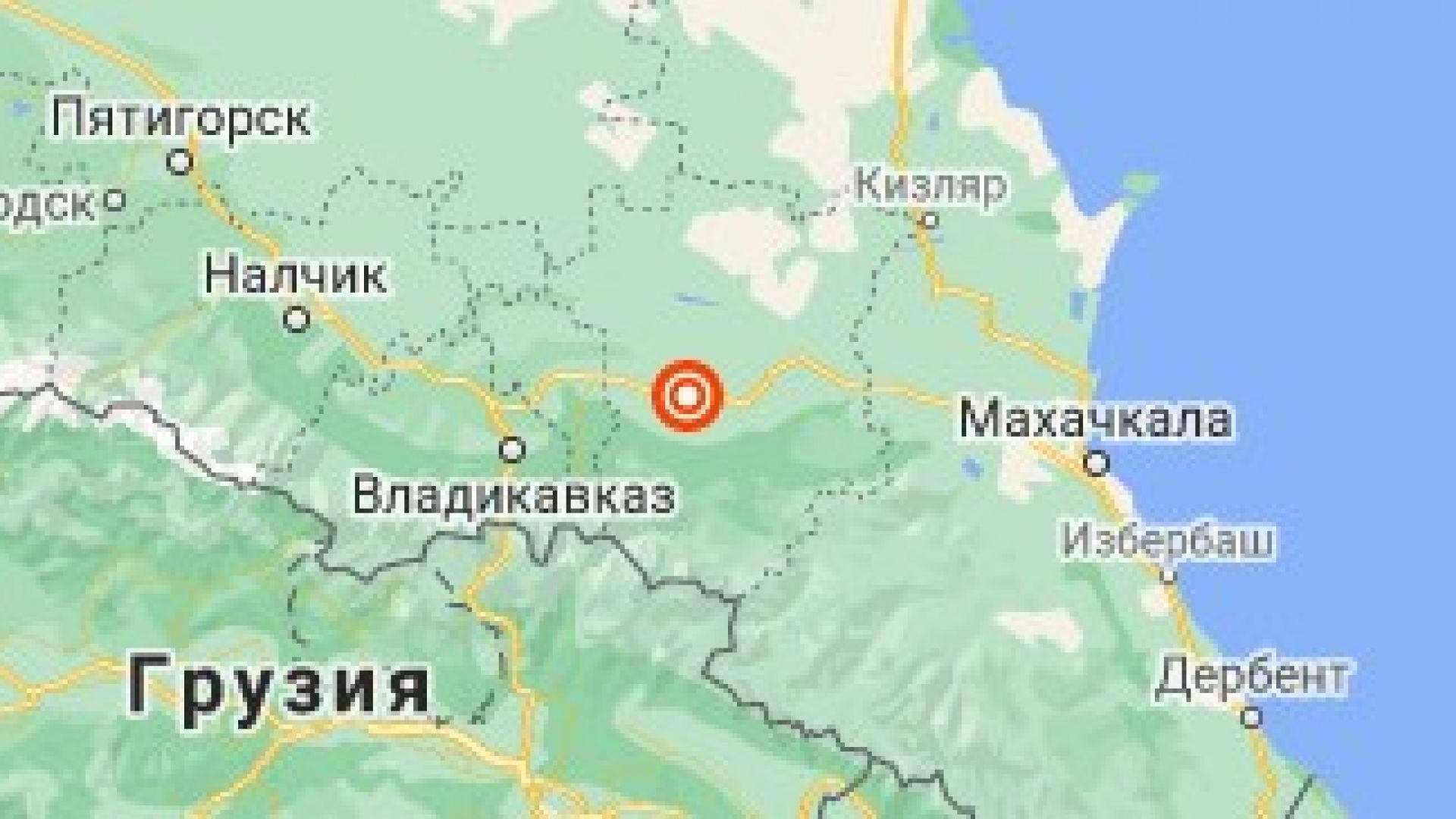 Силно земетресение разлюля Чечения