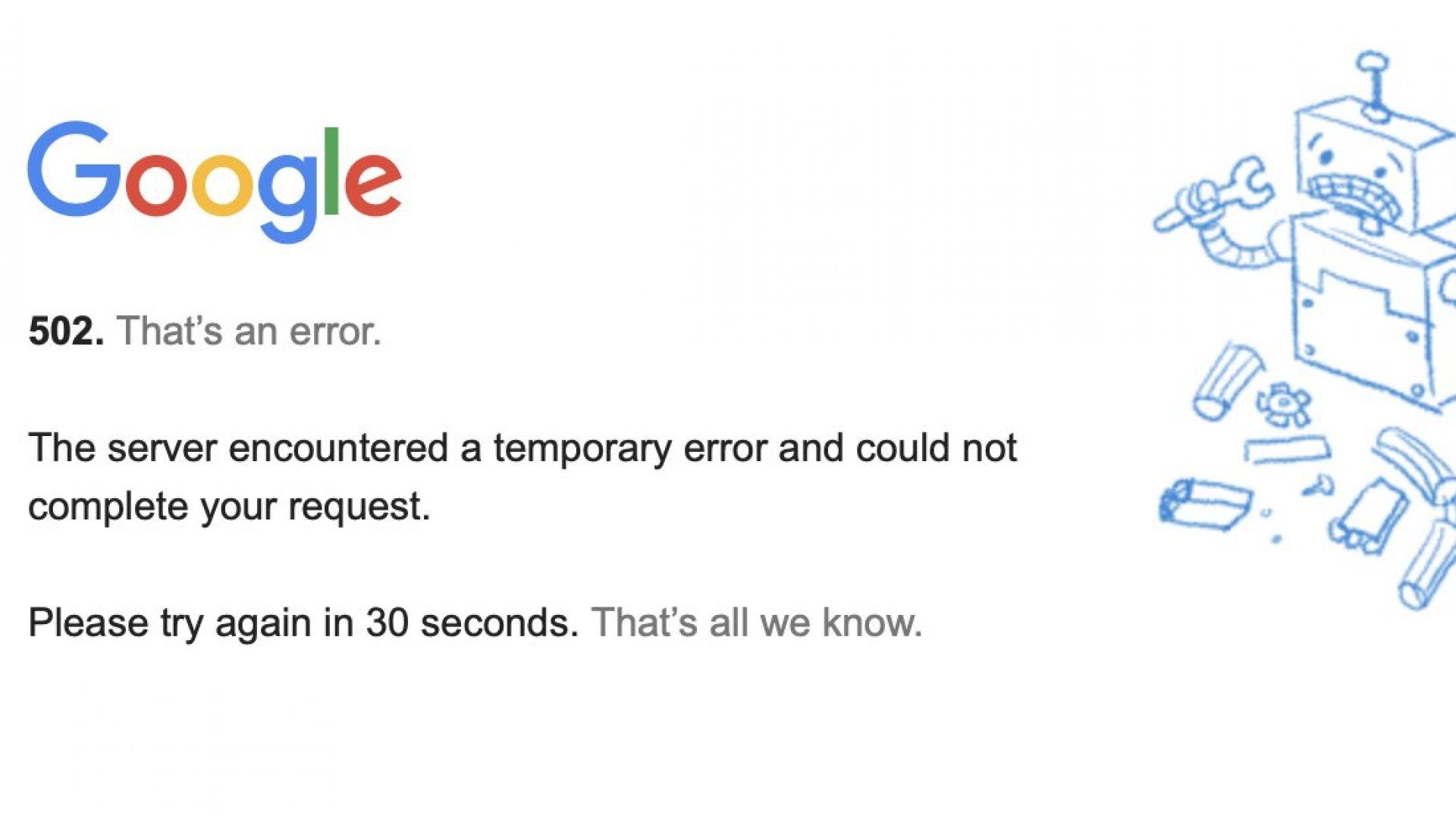 Google се срина по цял свят: Проблемите с YouTube, Gmail, Drive и Classroom стигнаха до България