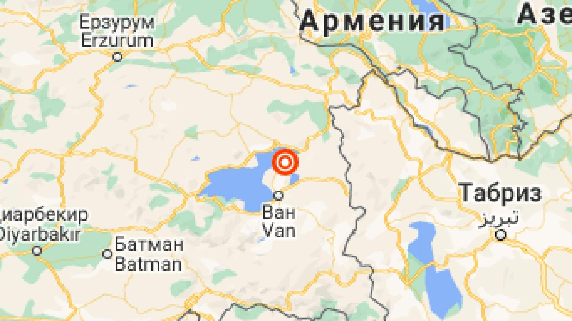 Земетресение отново разлюля Турция