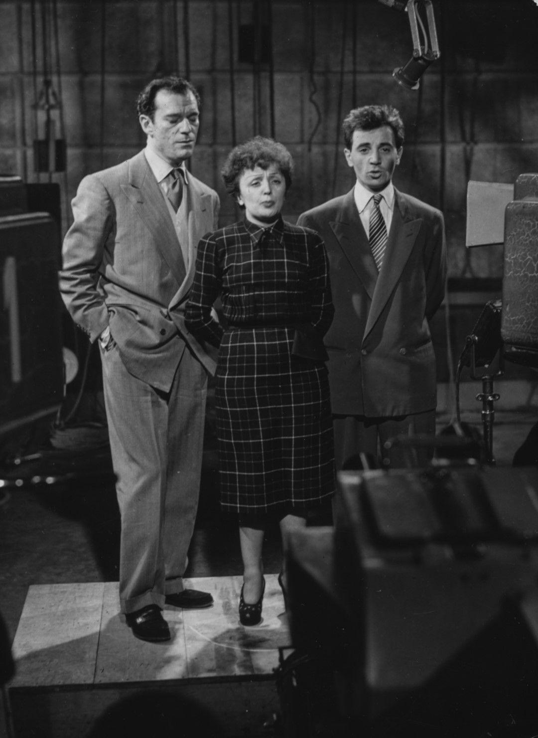 Едит Пиаф, Еди Константин и Шарл Азнавур през 1951 г.