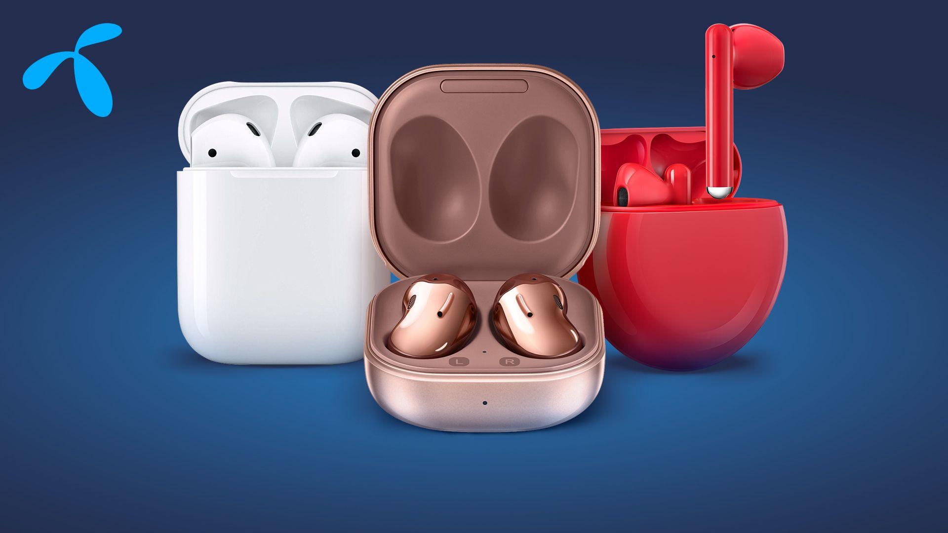 Безжични слушалки на Huawei, Samsung и Apple от Теленор – чудесен подарък за Коледа