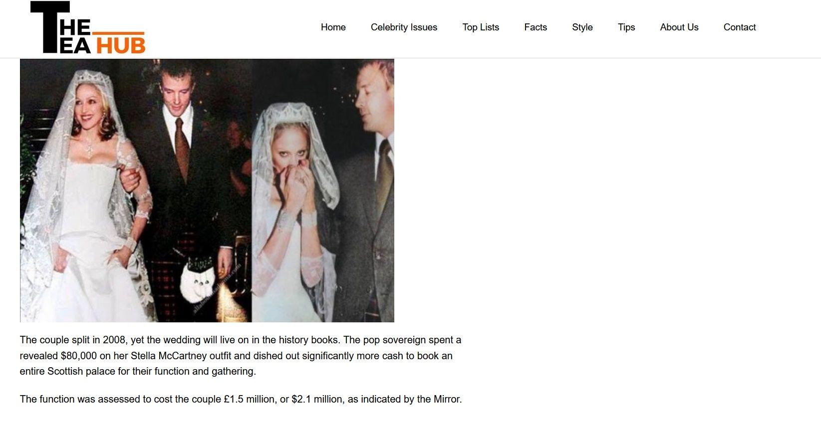 Сватбата на Мадона и Гай Ричи