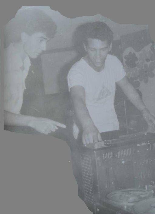 Ники Русиновски (вдясно) и Васко Громков в зората на своята кариера
