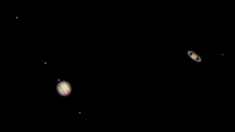 Как видяхме Витлеемската звезда или сближаването на Юпитер и Сатурн (снимки)