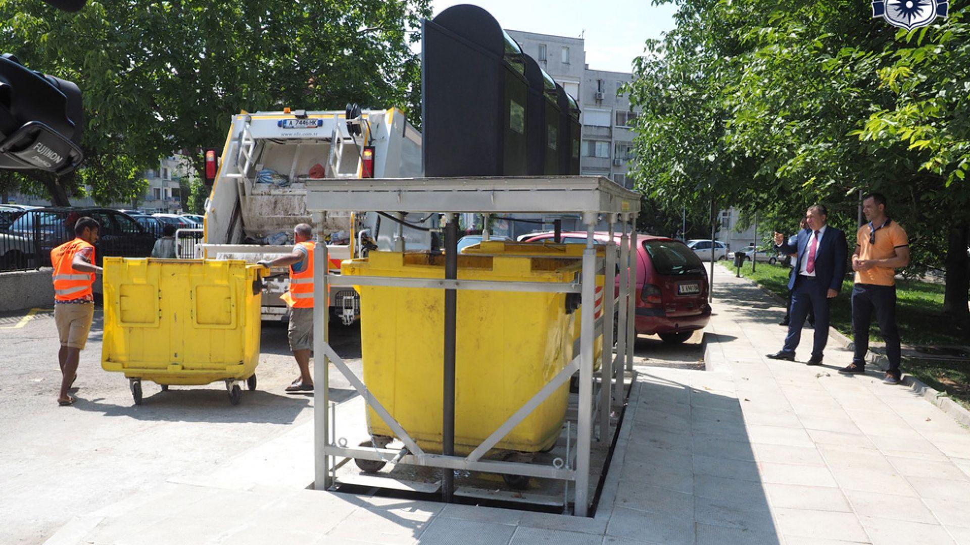 Слагат подземни кофи за смет в Слънчев бряг