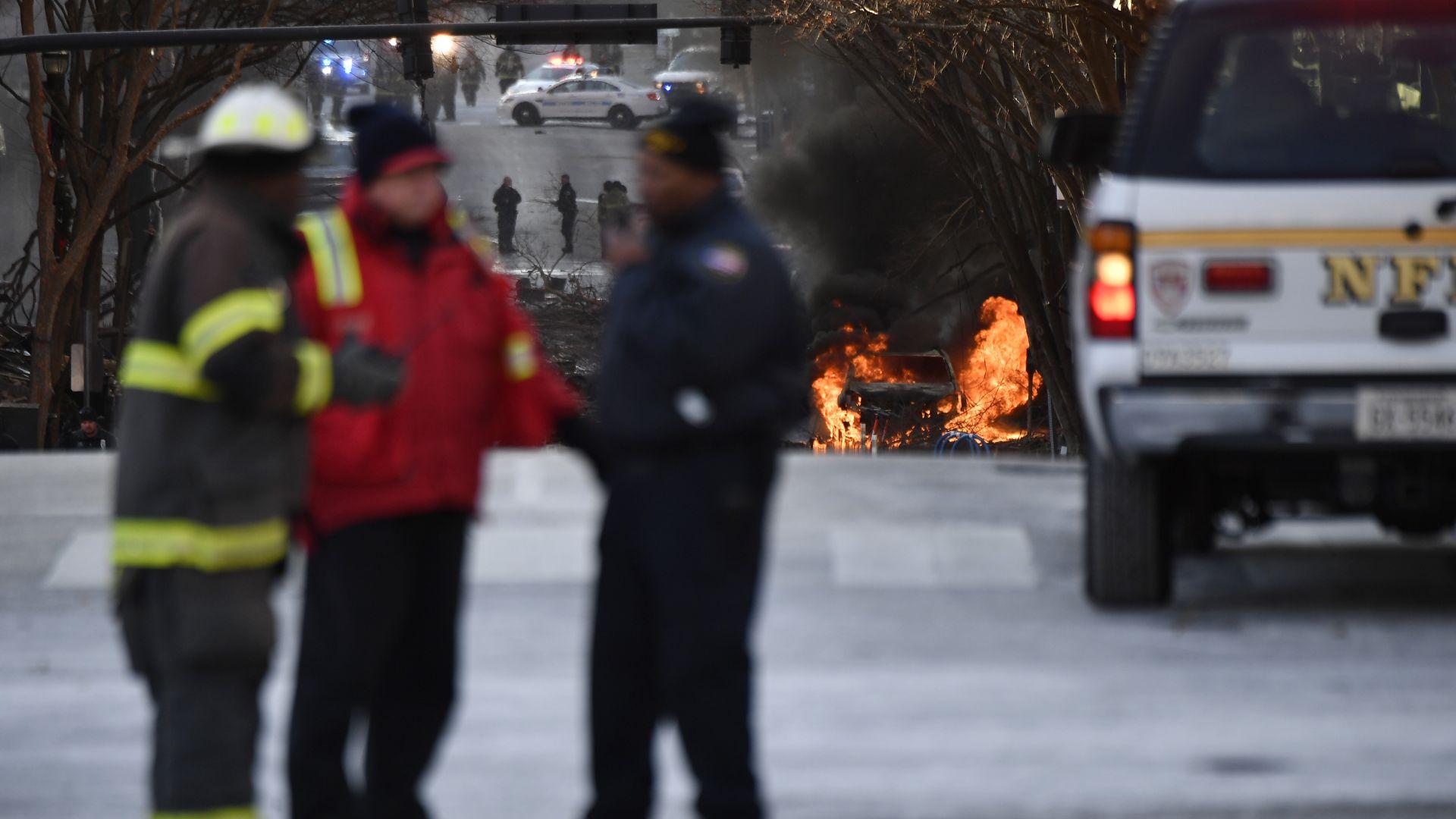 Потвърдиха, че нападателят в Нешвил е загинал при взрива, самоличността му е известна