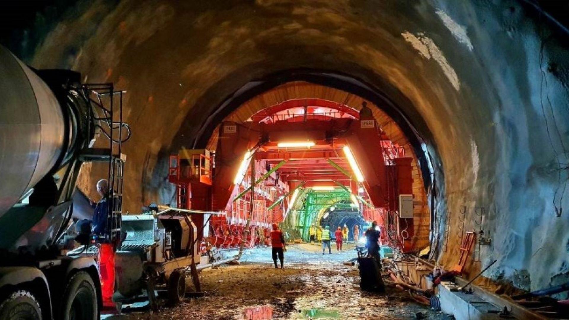 "Тунел ""Железница"" вече е готов наполовина"