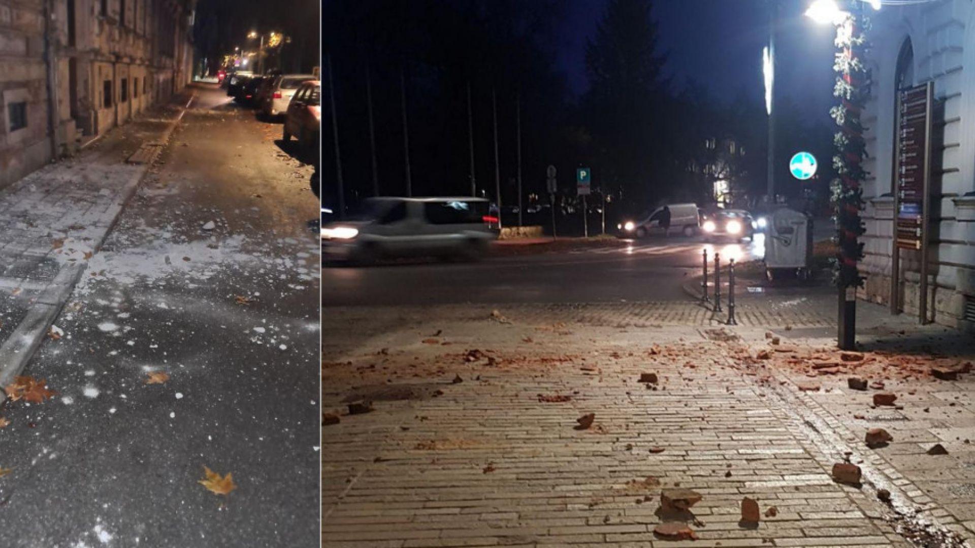 Серия от силни земетресения разлюляха Хърватия (снимки/видео)