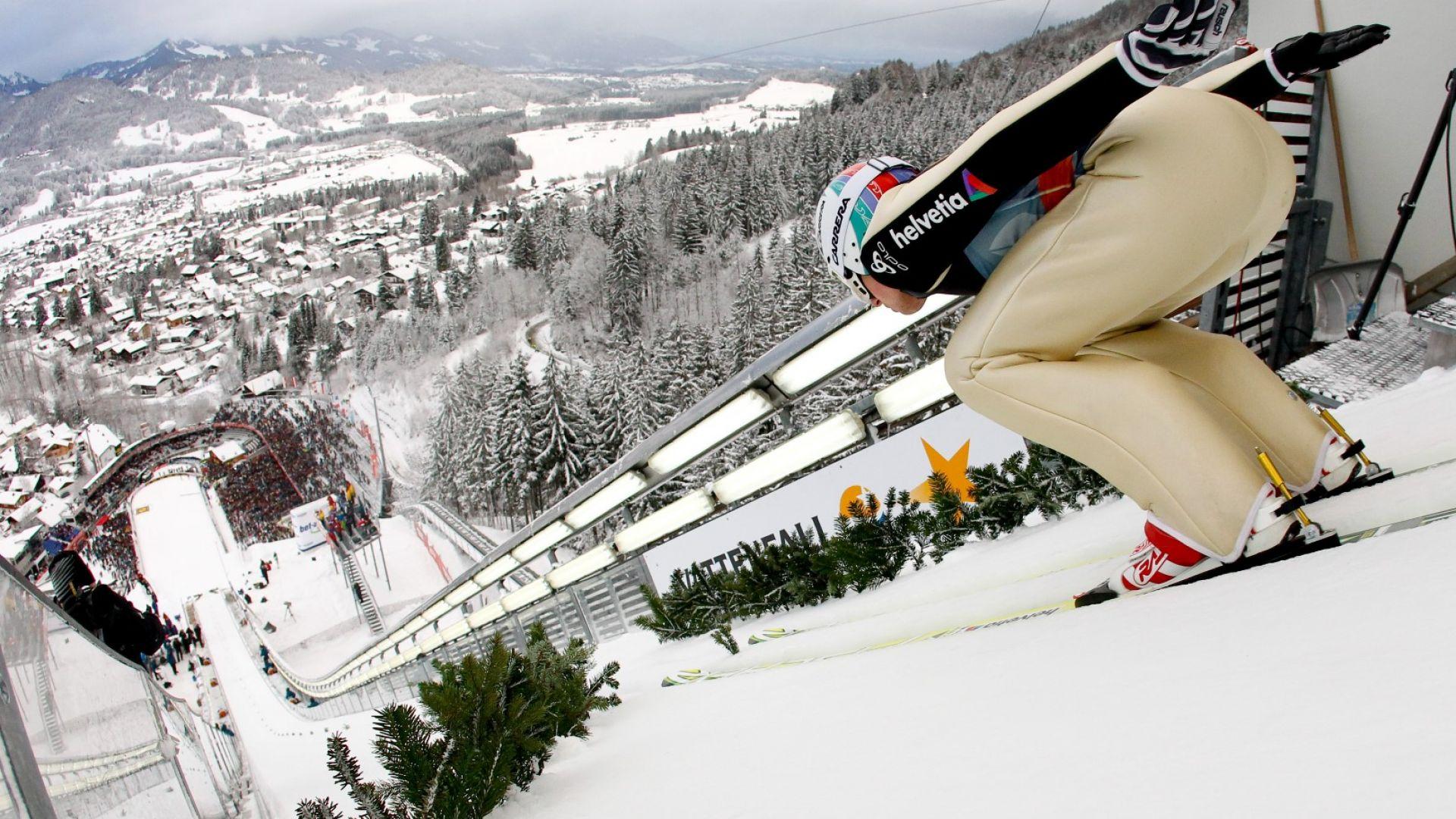 Спортът по телевизията (много футбол и легендарно шоу в ски-скоковете с българин в него)