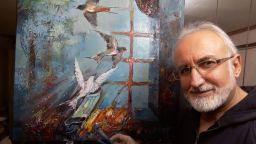 Художникът Нацин с нова картина предвестник - отново нарисува  бялата лястовица