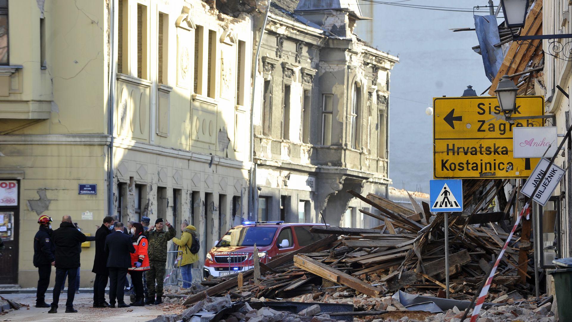 Даваме 100 000 евро помощ на Хърватия след земетресенията
