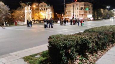 Група протестиращи пак блокираха Орлов мост