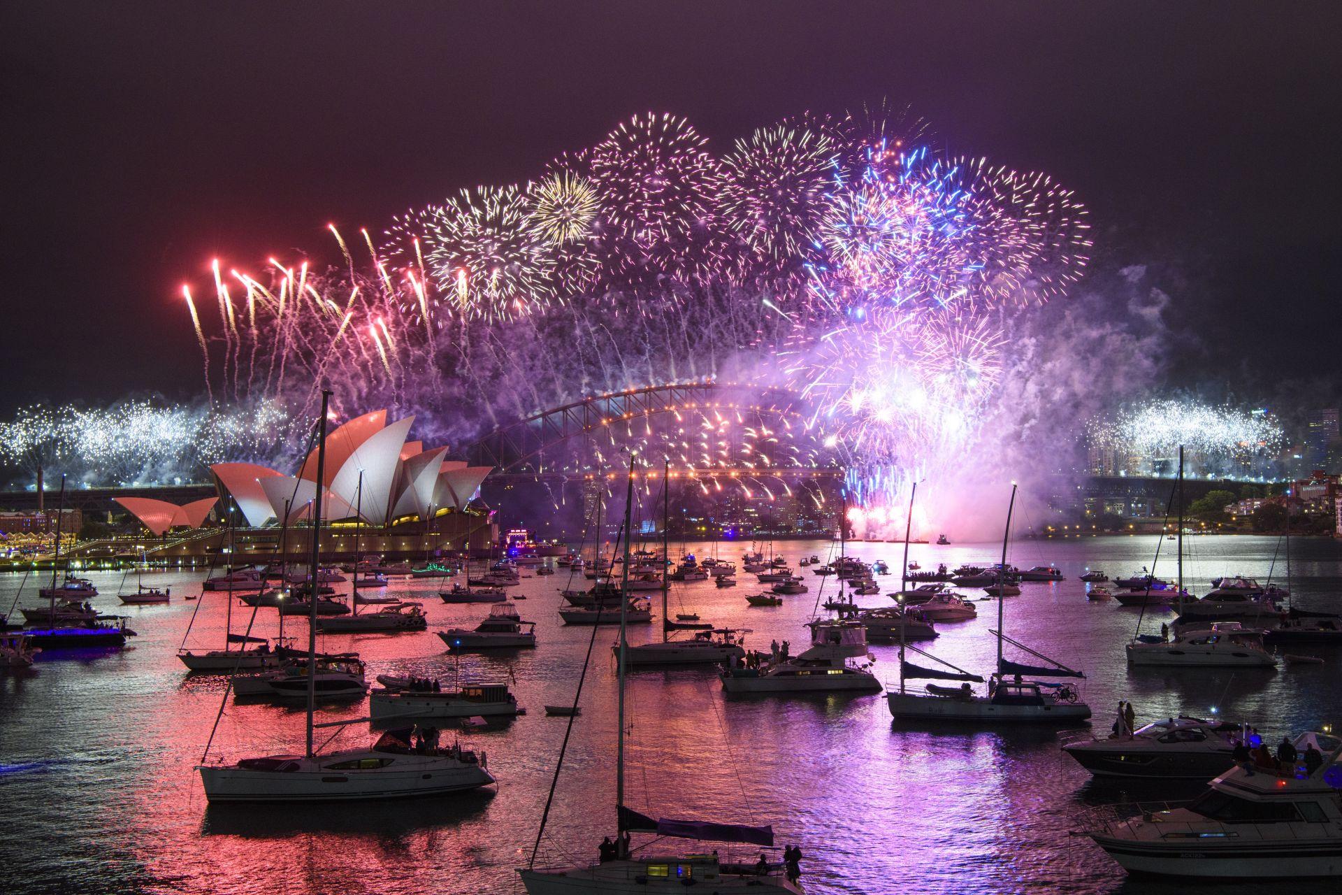 Нова година на пристанището Сидни, Австралия