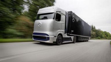 Хибриден камион на Daimler ще изминава над 1000 км с един резервоар водород