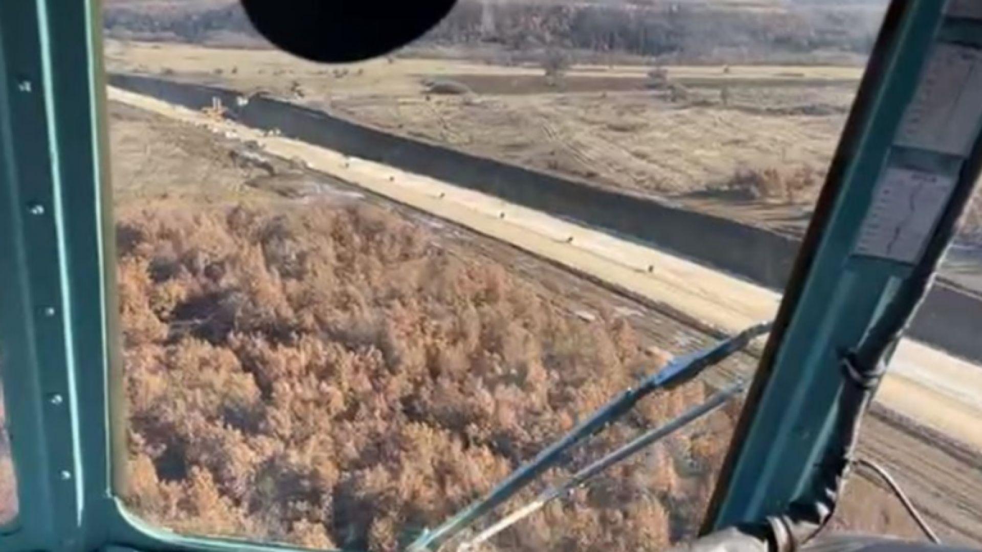 """Борисов се качи на хеликоптер, за да инспектира АМ """"Хемус"""" (видео)"""